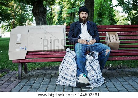 Vagrant in the park