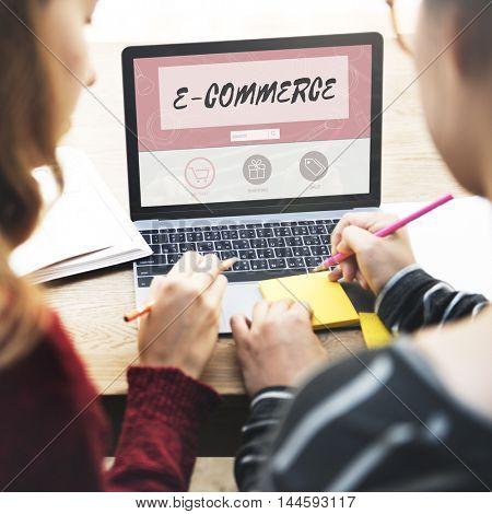 E-commerce Buy Online Internet Shopping Store Concept