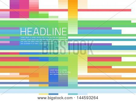 Abstract diagonal background colorful lines. Vector illustration