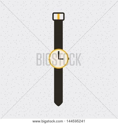 watch time clock hand isolated icon vector illustration design