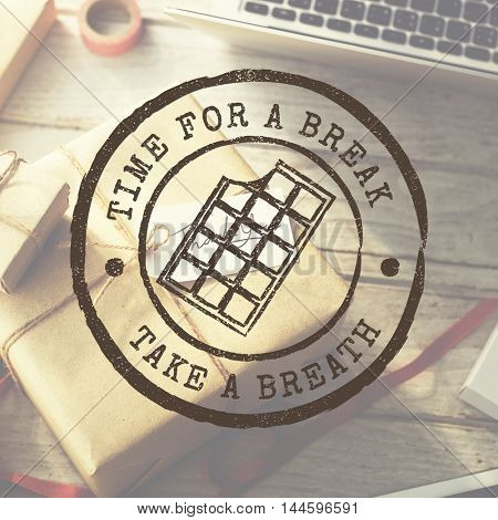 Time for a Break Take a Breath Relaxation Concept