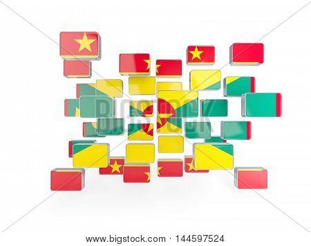 Flag Of Grenada, Mosaic Background