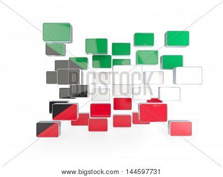 Flag Of Kuwait, Mosaic Background