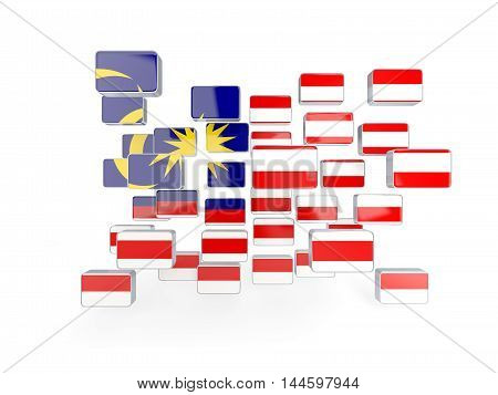 Flag Of Malaysia, Mosaic Background