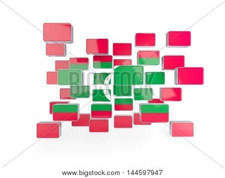 Flag Of Maldives, Mosaic Background