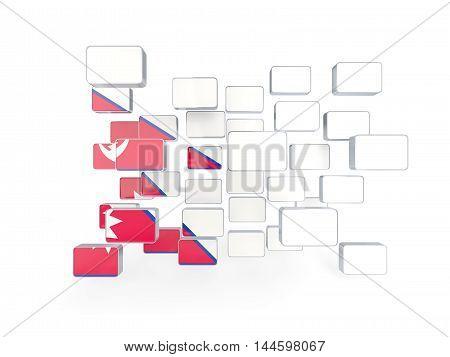 Flag Of Nepal, Mosaic Background
