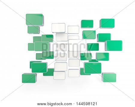 Flag Of Nigeria, Mosaic Background