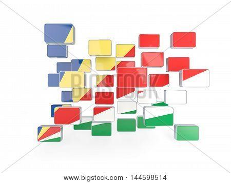 Flag Of Seychelles, Mosaic Background
