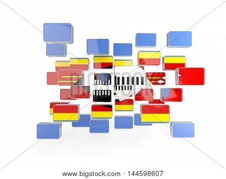 Flag Of Swaziland, Mosaic Background