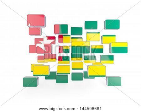 Flag Of Togo, Mosaic Background