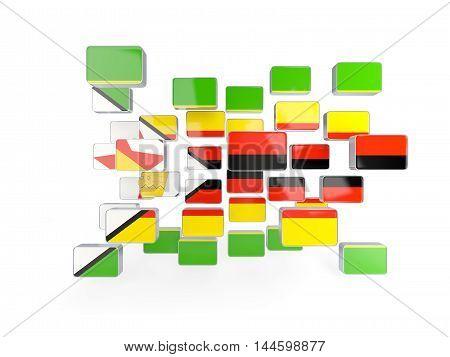 Flag Of Zimbabwe, Mosaic Background
