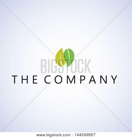 leaf logo  ideas design vector illustration on background
