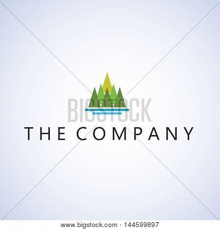mountain logo  ideas design vector illustration on background