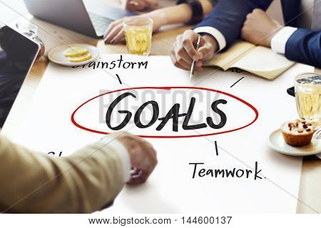 Goals Business Brand Launch Corporate Success Concept