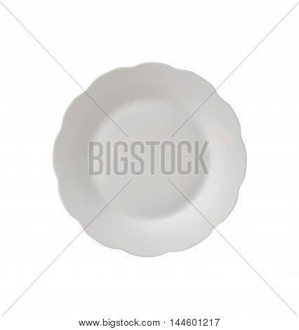 Plate Or Empty Plate On A Background.