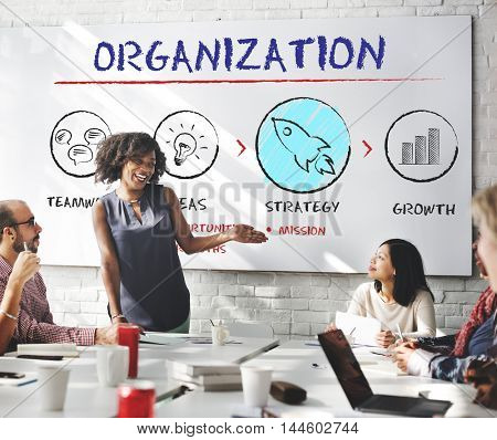 Organization Business Plan Growth Strategy Concept