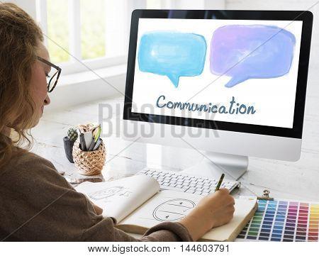 Communication Speech Bubble Symbol Concept