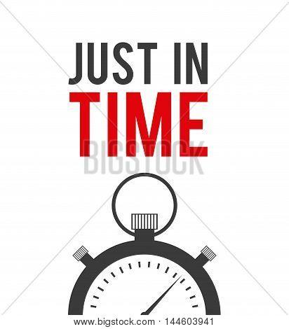just in time label chronometer vector illustration design