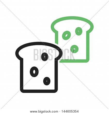 Bread, loaf, food icon vector image. Can also be used for farm. Suitable for mobile apps, web apps and print media.