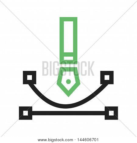 Curve, web, drawing icon vector image. Can also be used for web. Suitable for mobile apps, web apps and print media.