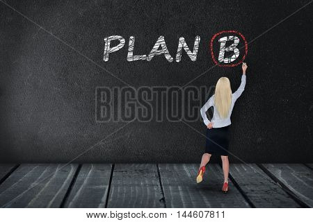 Plan B text write on black board