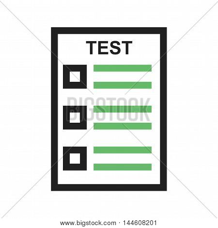 online, test, computer icon vector image. Can also be used for E Learning. Suitable for mobile apps, web apps and print media.