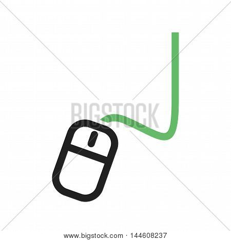 Mouse, computer, connection icon vector image. Can also be used for E Learning. Suitable for mobile apps, web apps and print media.