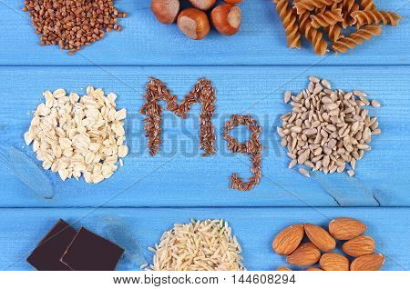 Natural Ingredients And Products Containing Magnesium And Dietary Fiber, Healthy Nutrition