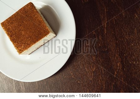 cheesecake on the plate