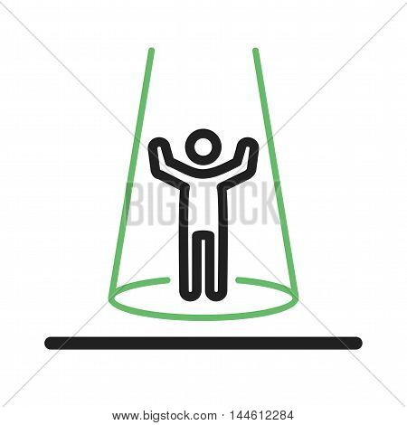 Show, tv, presenter icon vector image. Can also be used for people. Suitable for use on web apps, mobile apps and print media.