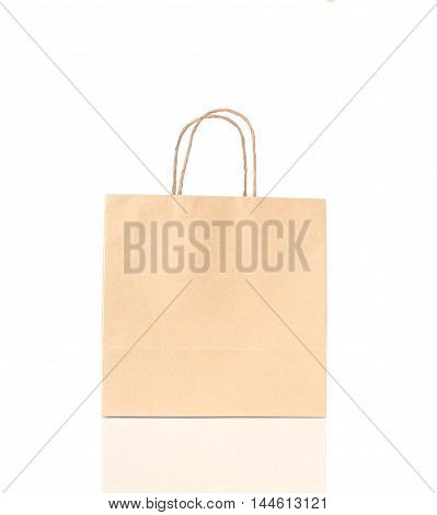 The Blank Brown Paper Bag Isolated On White Background