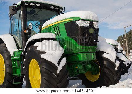 powerful tractors make snowy a winter break