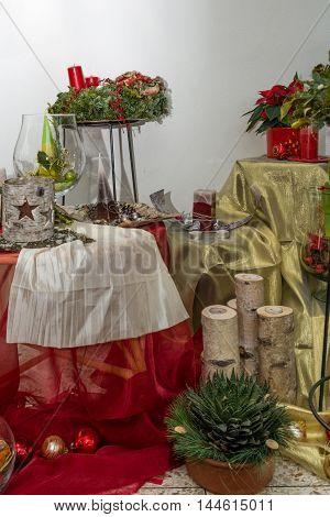 generously decorated christmas theme - creative handmade