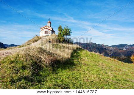 Chapel in Rodopi mountain, Borovo village, Bulgaria