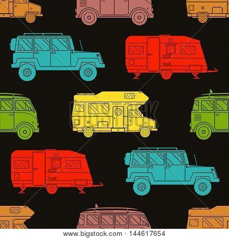 Rv Travel Pattern Background
