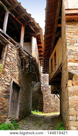 very old stone village Kovachevita in Bulgaria