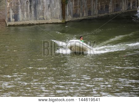 Speed Boat On The Run In Florence