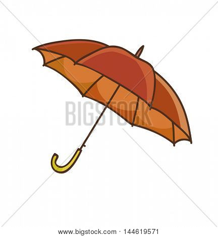 Cartoon umbrella. Vector Illustration. Isolated on white.