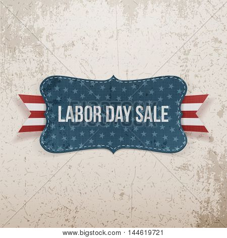 Labor Day Sale national Tag. Vector Illustration