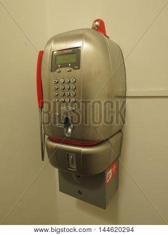 Public Phone In Italy