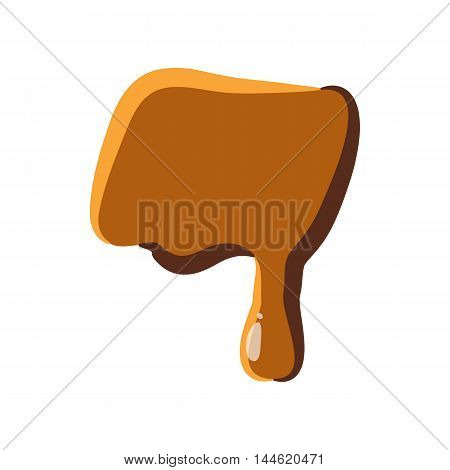 Quote from caramel icon isolated on white background. Punctuation symbol