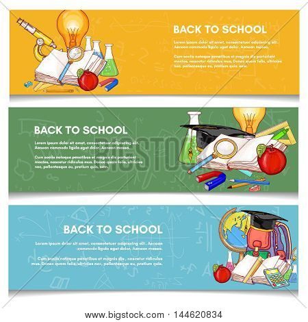Education banner back to school education banner background vector