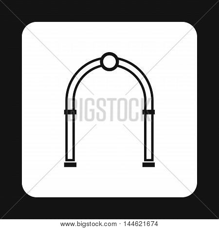 Oval arch icon in simple style isolated on white background. Construction symbol