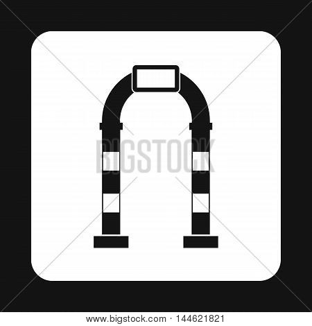 Modern arch icon in simple style isolated on white background. Construction symbol