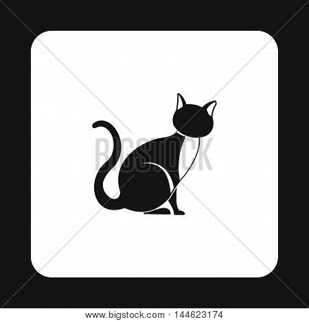 Cat icon in simple style isolated on white background. Animals symbol