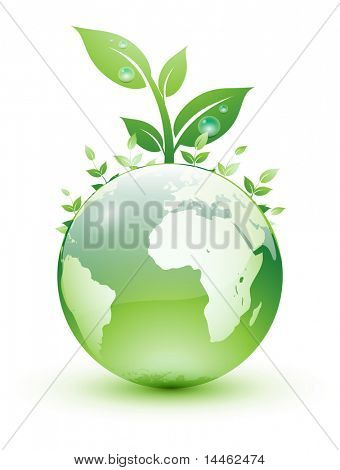Green earth planet design