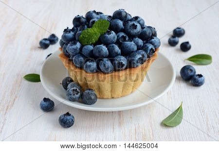 Tartlet With A Fresh Blueberry
