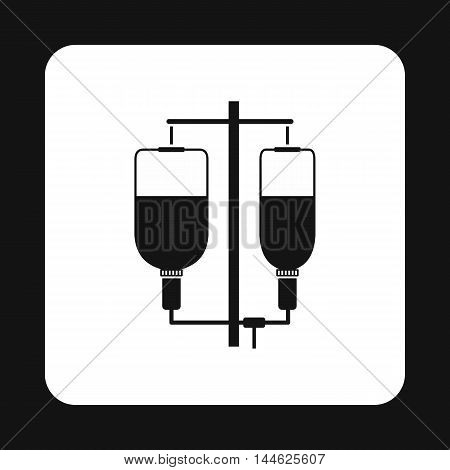 Intravenous infusion icon in simple style isolated on white background. Treatment and medicine symbol