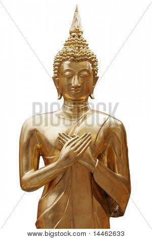 Statue of a gold Buddha