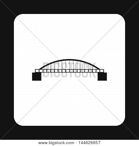 Classic bridge icon in simple style isolated on white background. Construction symbol